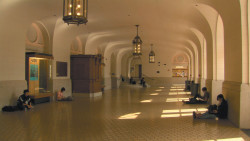 The University of California, Berkeley's Wheeler Hall, in a scene from Frederick Wiseman's <i>At Berkeley</i>