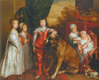 Anthony van Dyck: The Five Eldest Children of Charles I, 1637; from Francis Haskell's The King's Pictures, reviewed by Charles Hope in this issue
