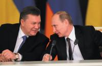 Viktor Yanukovych and Vladimir Putin at a Russian-Ukrainian summit, Moscow, December 17, 2013