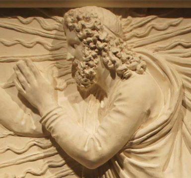 Antonio Canova: The Creation of Adam (detail)