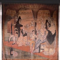 Pablo Picasso's 1919 stage curtain for Le Tricorne, at the Four Seasons Restaurant, New York