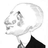 Gabriele D'Annunzio; drawing by Tullio Pericoli