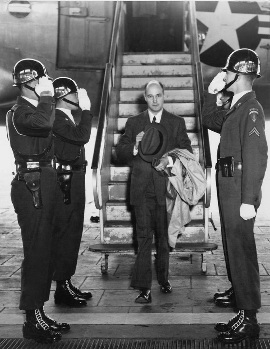 George Kennan en route to Moscow, where he served for five months as US ambassador, May 1952