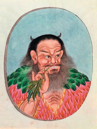 The legendary Chinese emperor Shen Nung