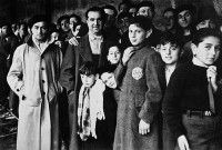 Jewish deportees at the Drancy transit camp outside Paris, 1942