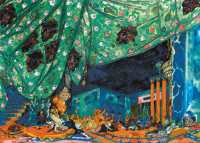 Set design by Leon Bakst for the Ballets Russes production of Scheherazade, circa 1910