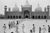 The Badshahi Mosque in Lahore's old city, Pakistan, 1988