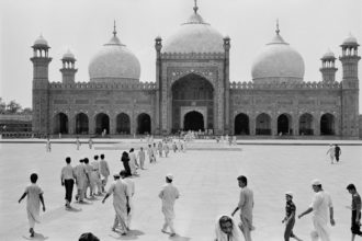 The Badshahi Mosque in Lahore's old city, Pakistan, 1988