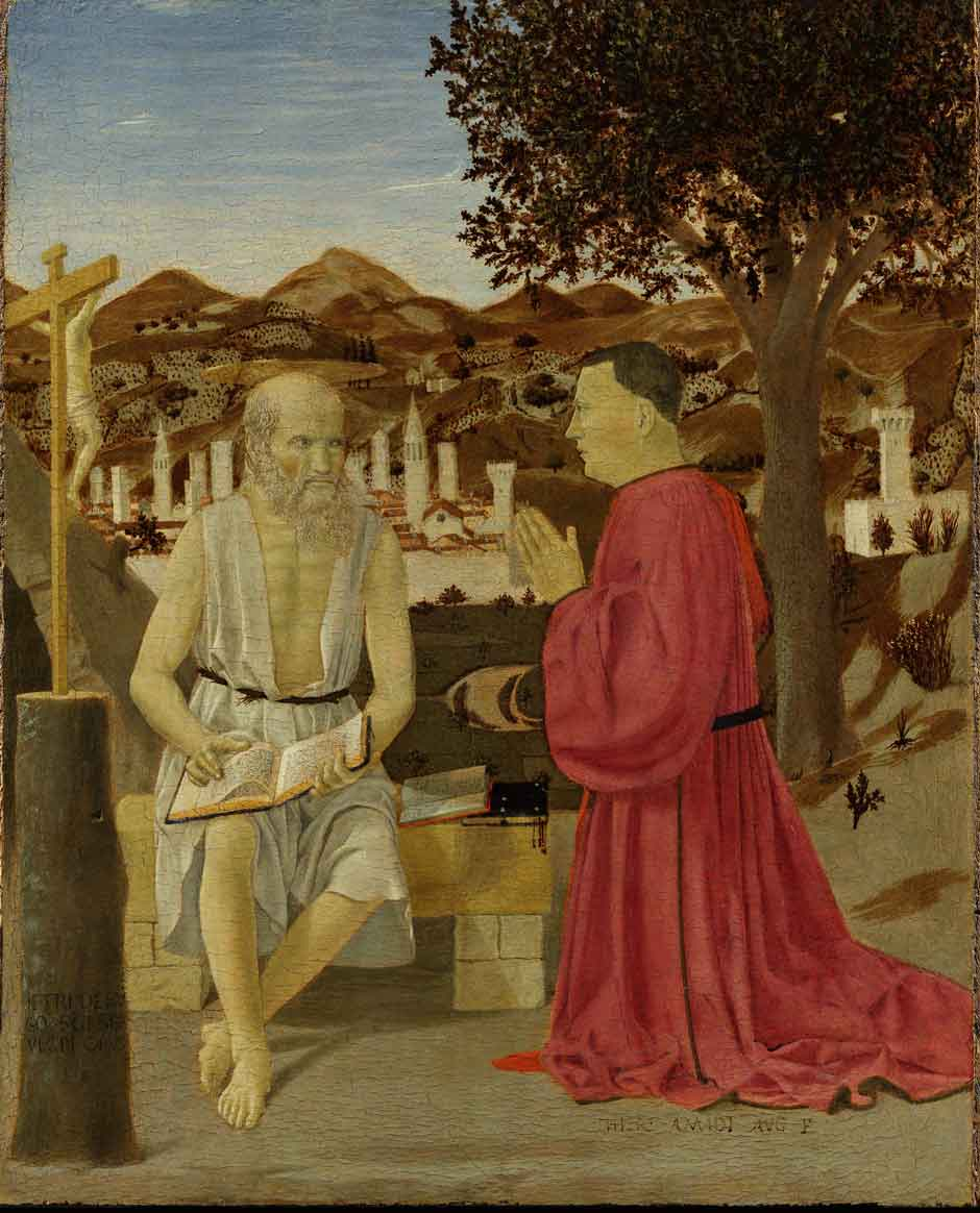 Full Piero della Francesca: Saint Jerome and a Supplicant.jpg