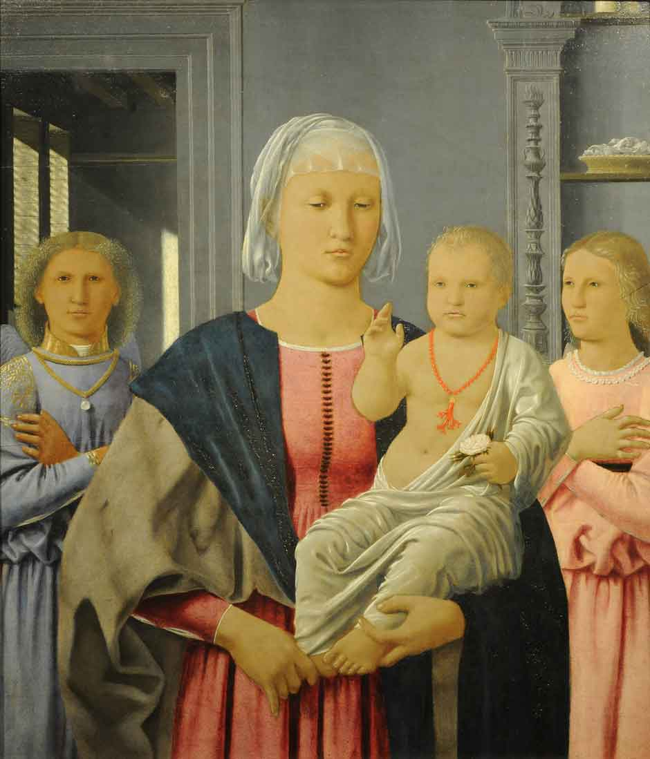 Piero della Francesca: Madonna and Child with Two Angels.jpg