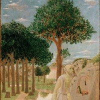 Piero della Francesca: Saint Jerome in the Wilderness, 20 1/8 x 15 inches, 1450
