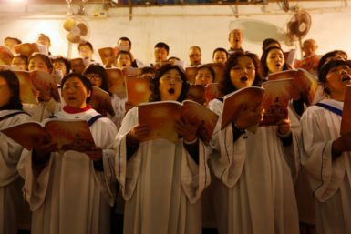 Christmas Eve services at the Xuanwumen Catholic Church, Beijing, December 24, 2012