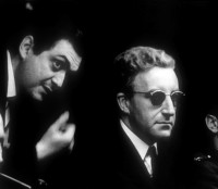 Stanley Kubrick and Peter Sellers in 1963, on the set of <i>Dr. Strangelove</i>