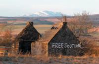 Graffiti in favor of Scottish independence, Bannockburn, Scotland, January 2012