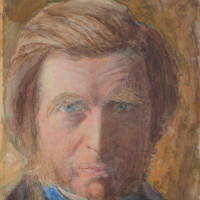 John Ruskin: <i>Self-portrait, in Blue Neckcloth</i>, 1873