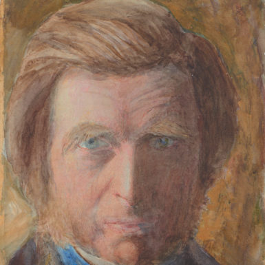 John Ruskin: Self-portrait, in Blue Neckcloth, 1873