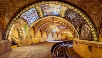 Rafael Guastavino's tile vaulting for the now-closed City Hall subway station, inaugurated in 1904