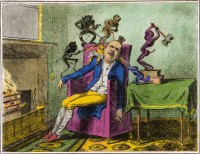 Enrique Chagoya: The Headache, a Print after George Cruikshank, 2010