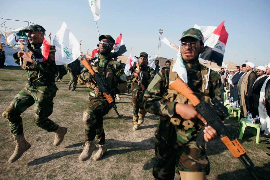 Shi'ite militia Asaib Ahl al-Haq in a parade.jpg