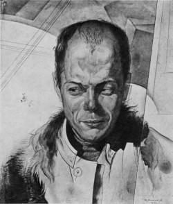 Viktor Shklovsky; portrait by Yury Annenkov, 1919