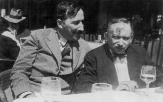 Stefan Zweig and Joseph Roth, Ostende, Belgium, 1936