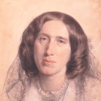 George Eliot; chalk drawing by Sir Frederic William Burton, 1865