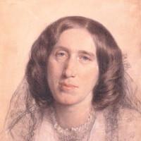 George Eliot; chalk drawing by Sir Frederic William Burton, 1865