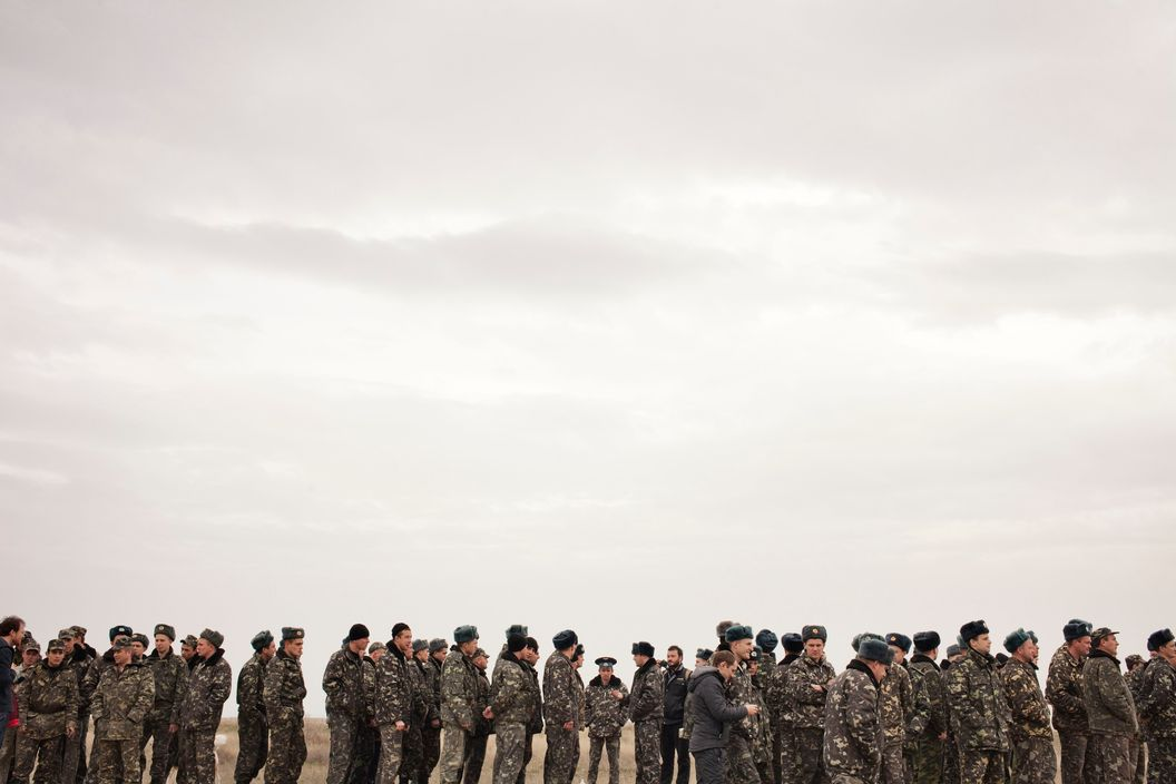 Ukrainian soldiers, Belbek, Crimea, March 4, 2014