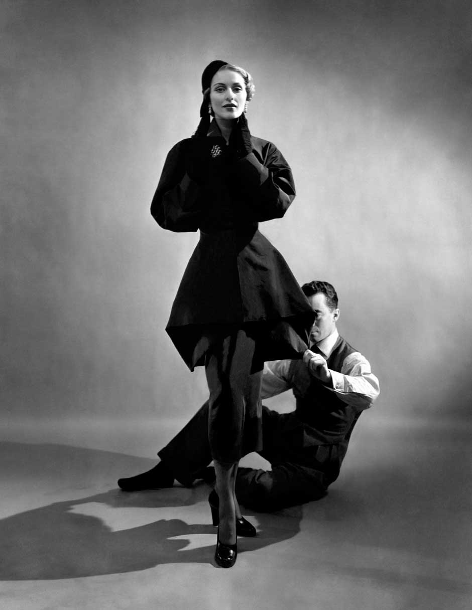 Charles James with Model, 1948.jpg