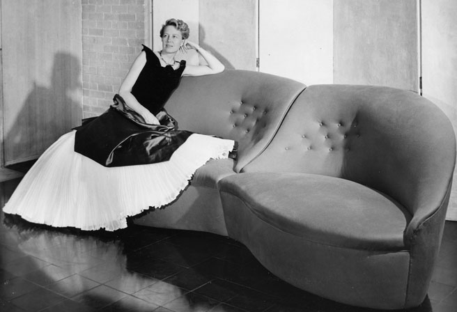 Dominique de Menil in a Charles James gown.jpg