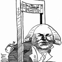 Georges Danton; drawing by David Levine