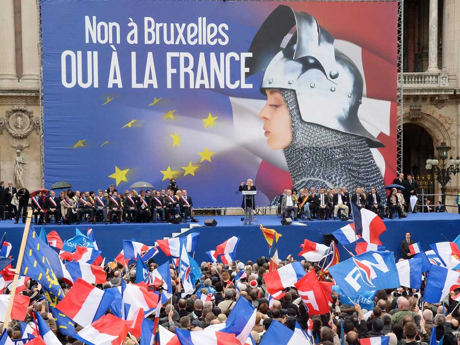 A rally for France's far-right National Front, Paris, France, May 1, 2014