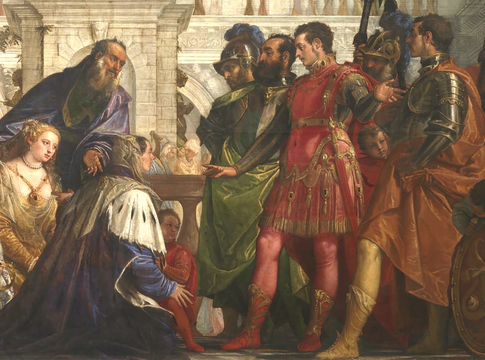 Paolo Veronese: The Family of Darius before Alexander, 1565–1567 (detail), click to enlarge