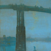 James McNeill Whistler: <i>Nocturne: Blue and Gold—Old Battersea Bridge</i>, 1872–1873