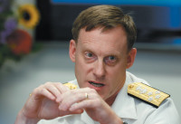 The NSA's new director, Admiral Michael Rogers, at a cybersecurity summit in Washington, D.C., May 12, 2014
