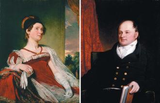 Louisa Catherine and John Quincy Adams; paintings by Charles Robert Leslie, 1816