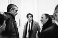 Sergei Dovlatov with Joseph Brodsky (right) and David Rieff (center), New York City, 1984