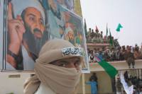 A pro-Taliban rally in Quetta, the capital of Pakistan's Balochistan province, circa 2002