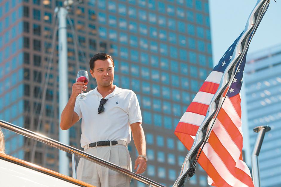 Leonardo DiCaprio in Martin Scorsese's film The Wolf of Wall Street, 2013