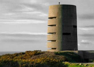 A five-story German observation tower at Guernsey, Channel Islands