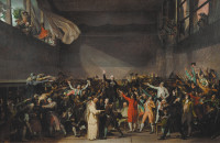 'The Tennis Court Oath, 1789'; oil sketch by Jacques-Louis David