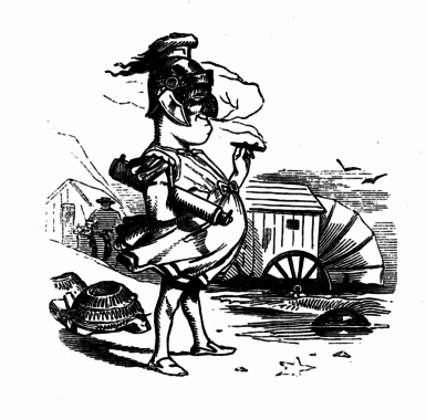 Illustration by John Leech from The Comic History of Rome, 1852