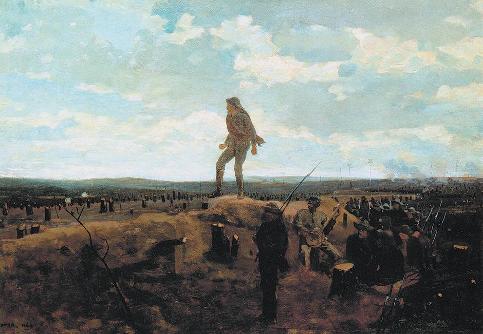 Winslow Homer: Defiance: Inviting a Shot Before Petersburg, 1864