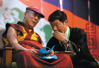 The Dalai Lama and Lobsang Sangay, prime minister of Tibet's government in exile, Dharamsala, India, June 2012