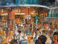 'Bourbon Street Jazz Bars'; illustration by Franklin McMahon