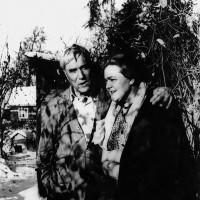 Boris Pasternak and Olga Ivinskaya at his dacha in Peredelkino, late 1950s