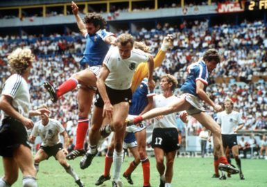 The World Cup semifinal match between France and West Germany, Guadalajara, Mexico, June 25, 1986