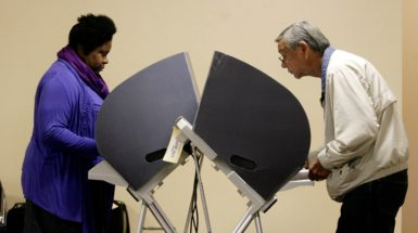 Voters cast their ballots in Bakersfield, California, November 6, 2012