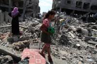 Destroyed houses in the Shejaia neighborhood of Gaza City, July 26, 2014