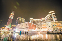 The Venetian Macao casino and resort, with recreations of the Campanile and the Doge's Palace, Macao, China